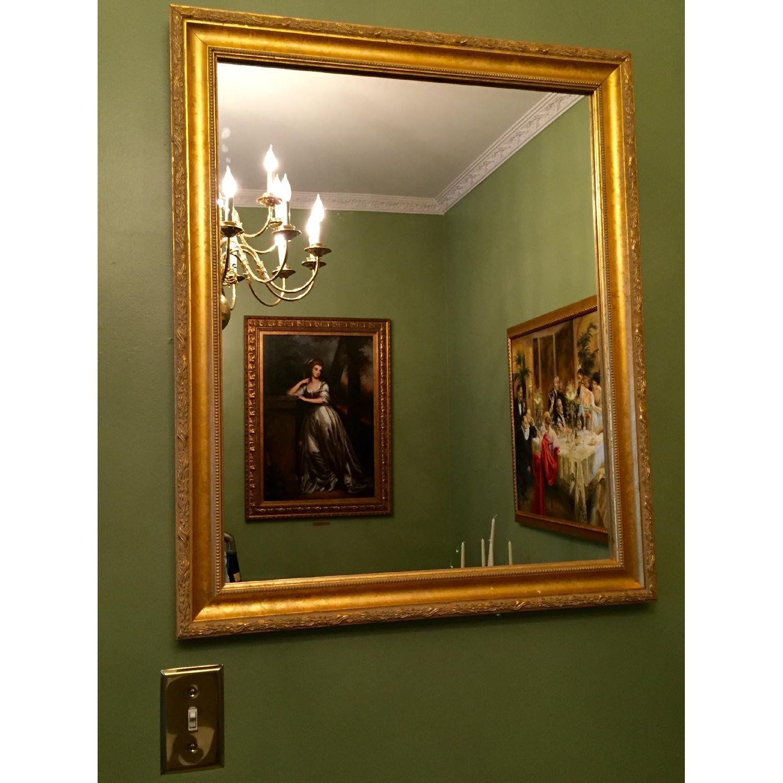 Wood Gold Leaf Frame Mirror - image-3