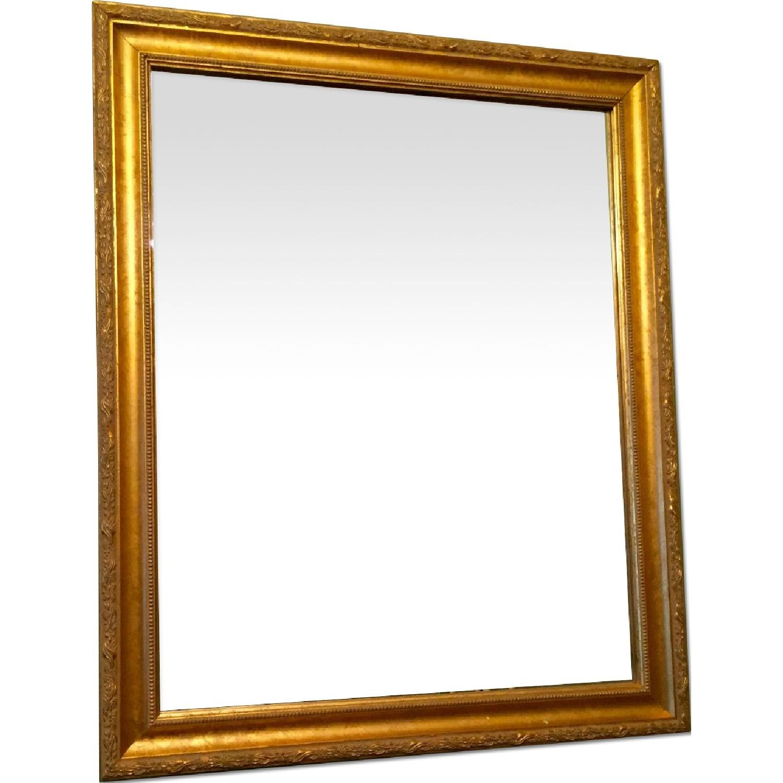 Wood Gold Leaf Frame Mirror - image-0