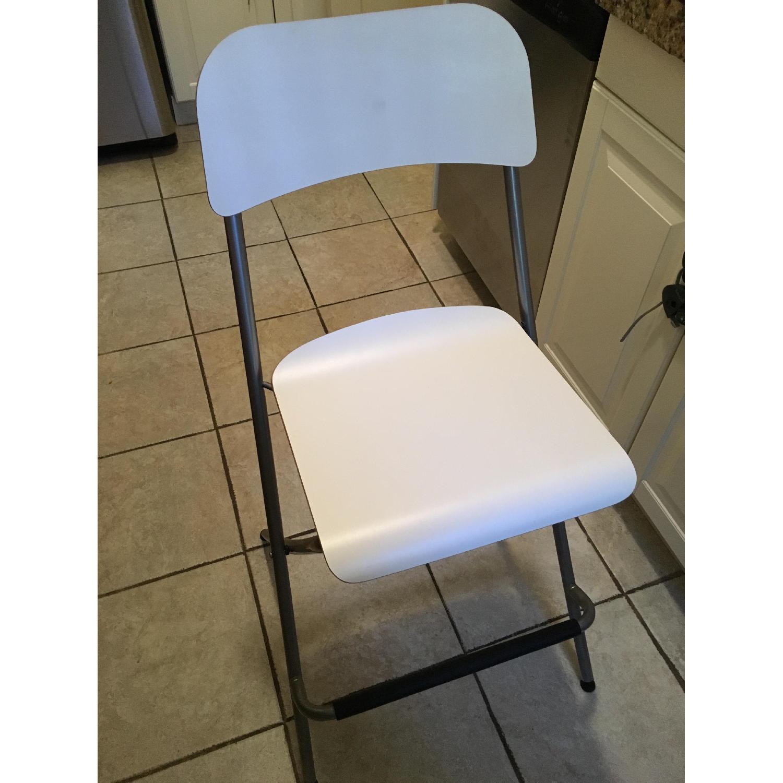 Ikea Franklin Foldable Bar Stool w/ Backrest - Pair - image-1