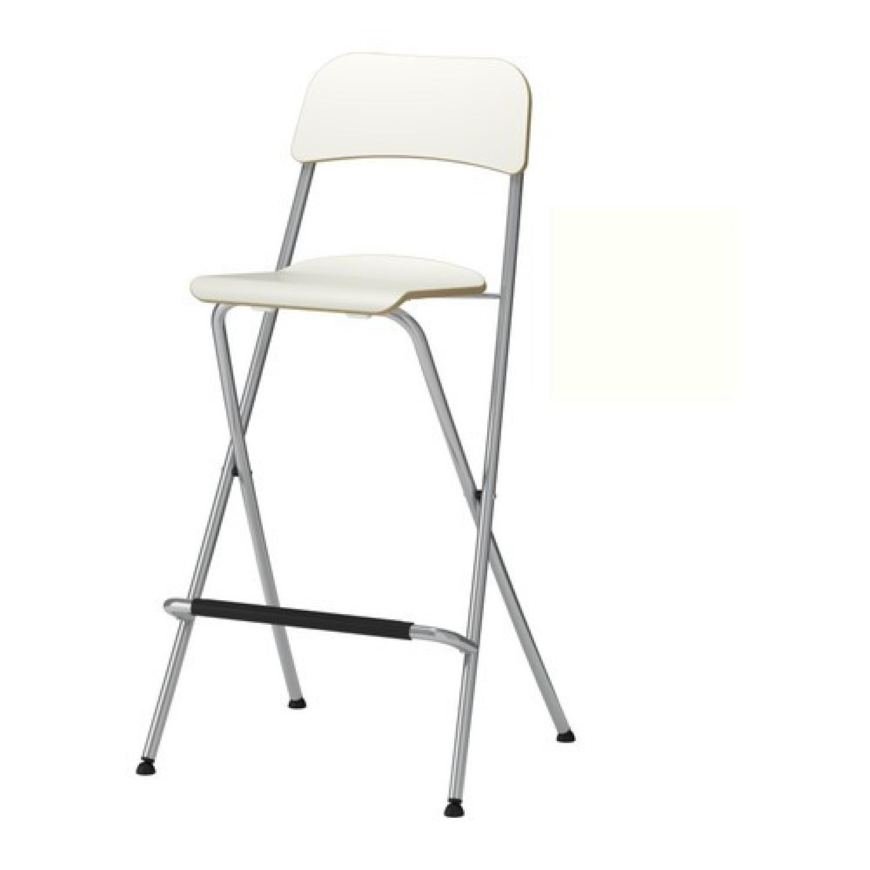 Ikea Franklin Foldable Bar Stool w/ Backrest - Pair - image-2
