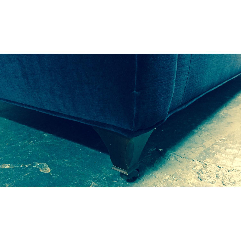 Hickory Chair Marquette Custom Navy Velvet Sofa - image-1