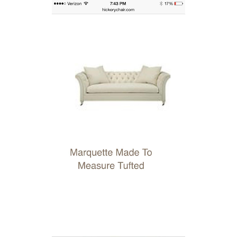 Hickory Chair Marquette Custom Navy Velvet Sofa - image-2