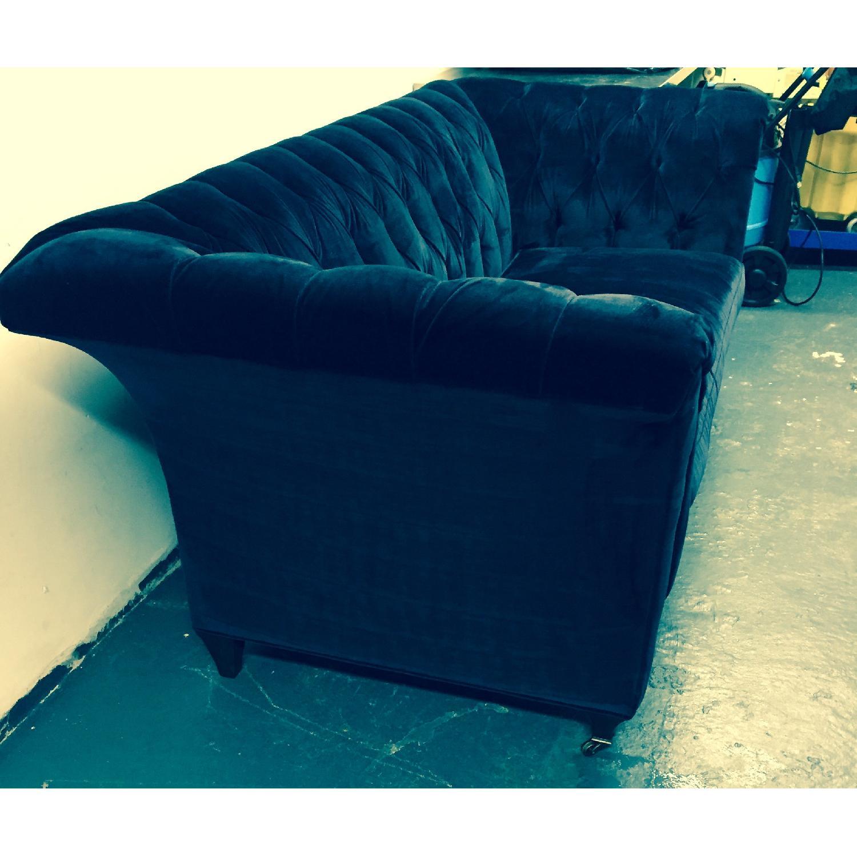 Hickory Chair Marquette Custom Navy Velvet Sofa - image-5