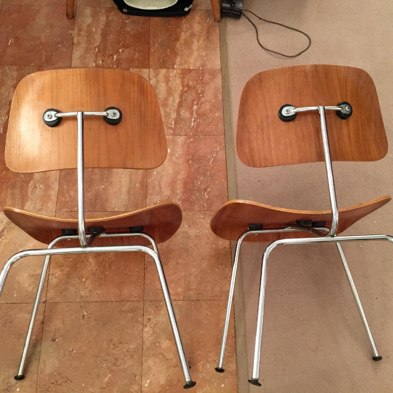 Herman Miller Original Eames DCM Plywood Chairs  - Pair - image-2