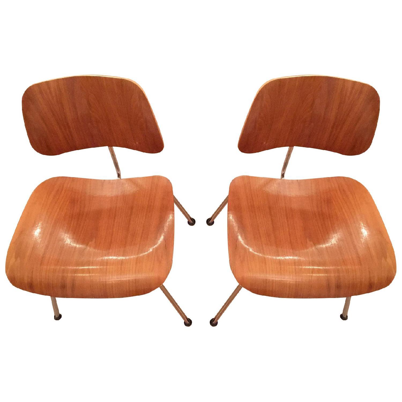Herman Miller Original Eames DCM Plywood Chairs  - Pair - image-0