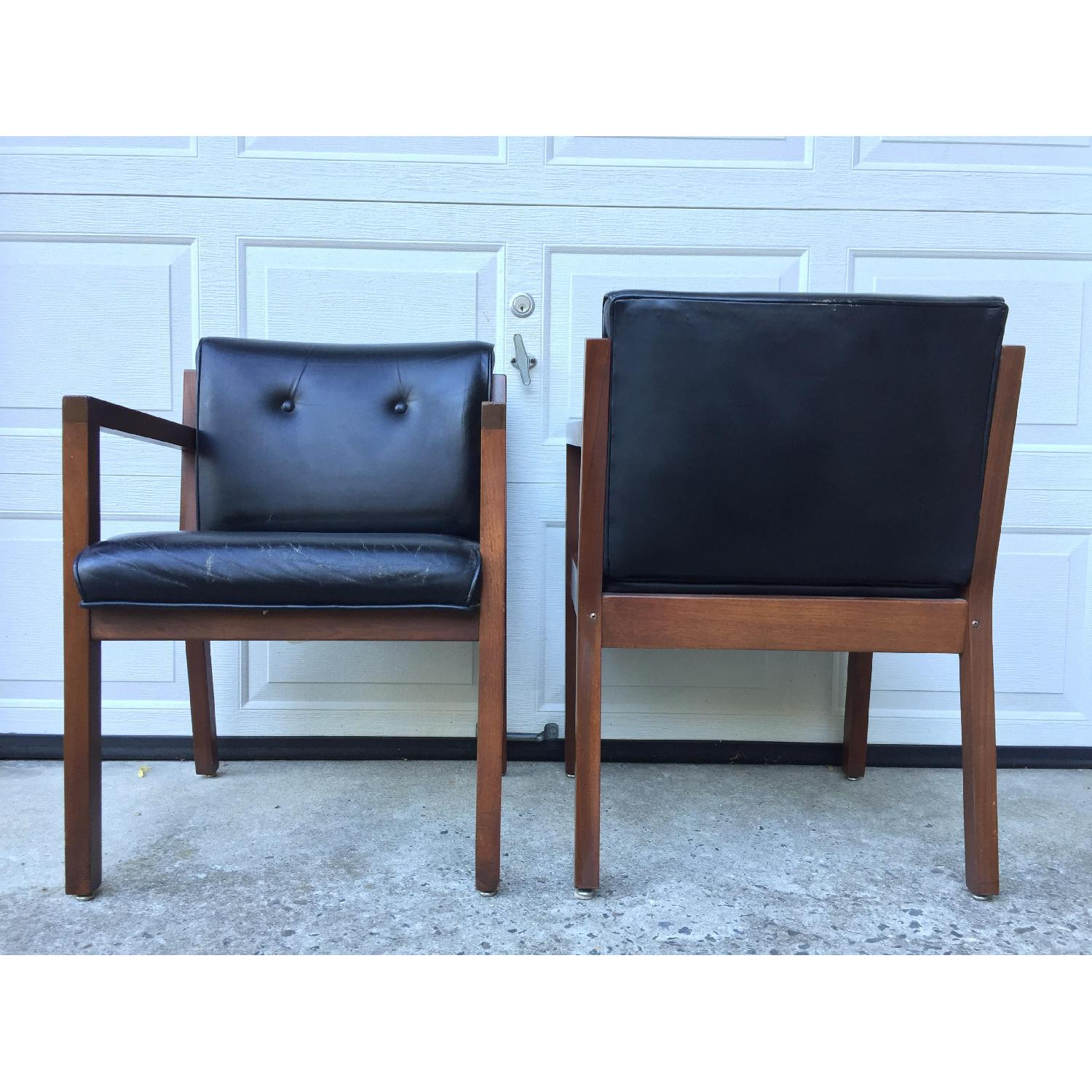 Jasper Chair Company Mid Century Modern Walnut Frame Chairs - Pair - image-3