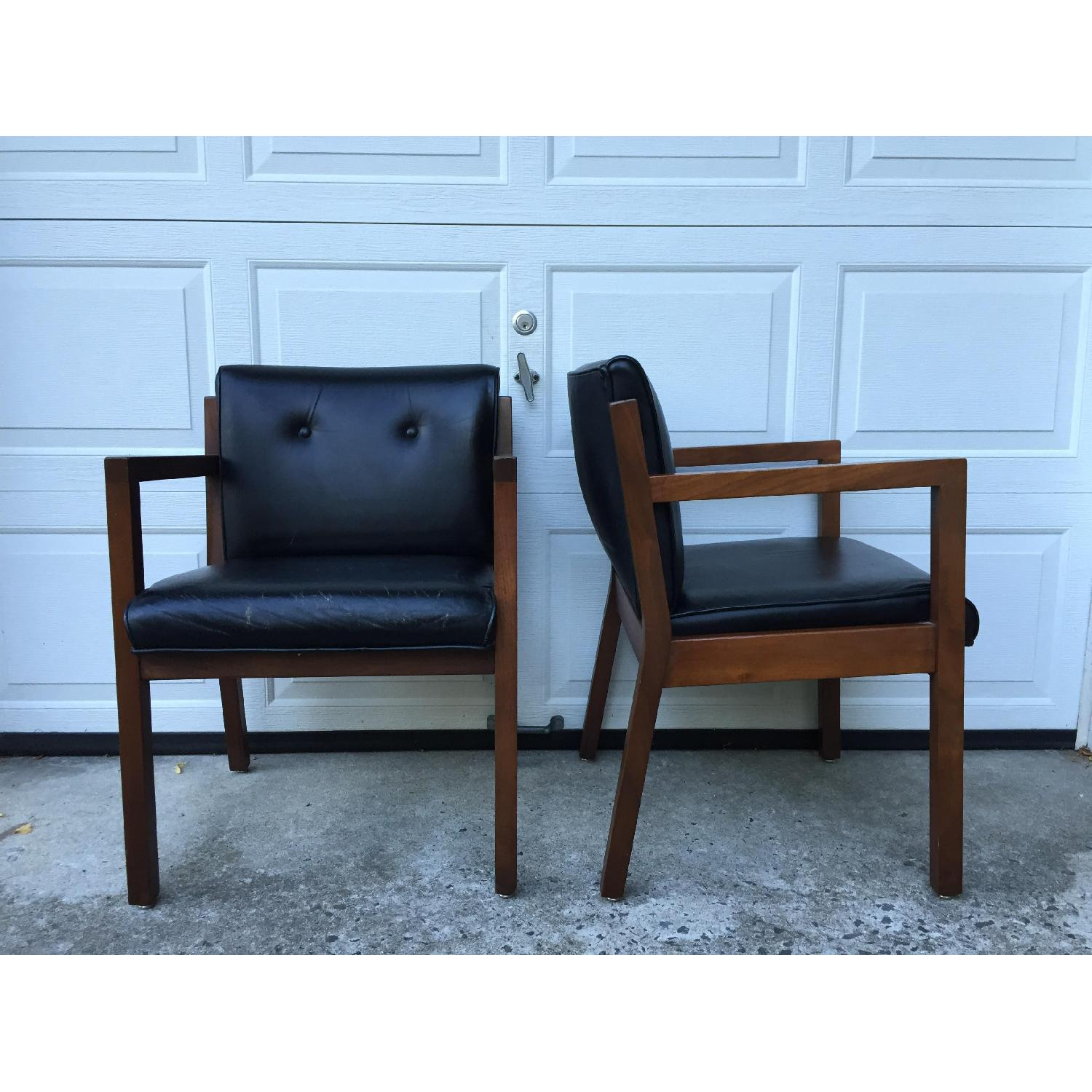 Jasper Chair Company Mid Century Modern Walnut Frame Chairs - Pair - image-4
