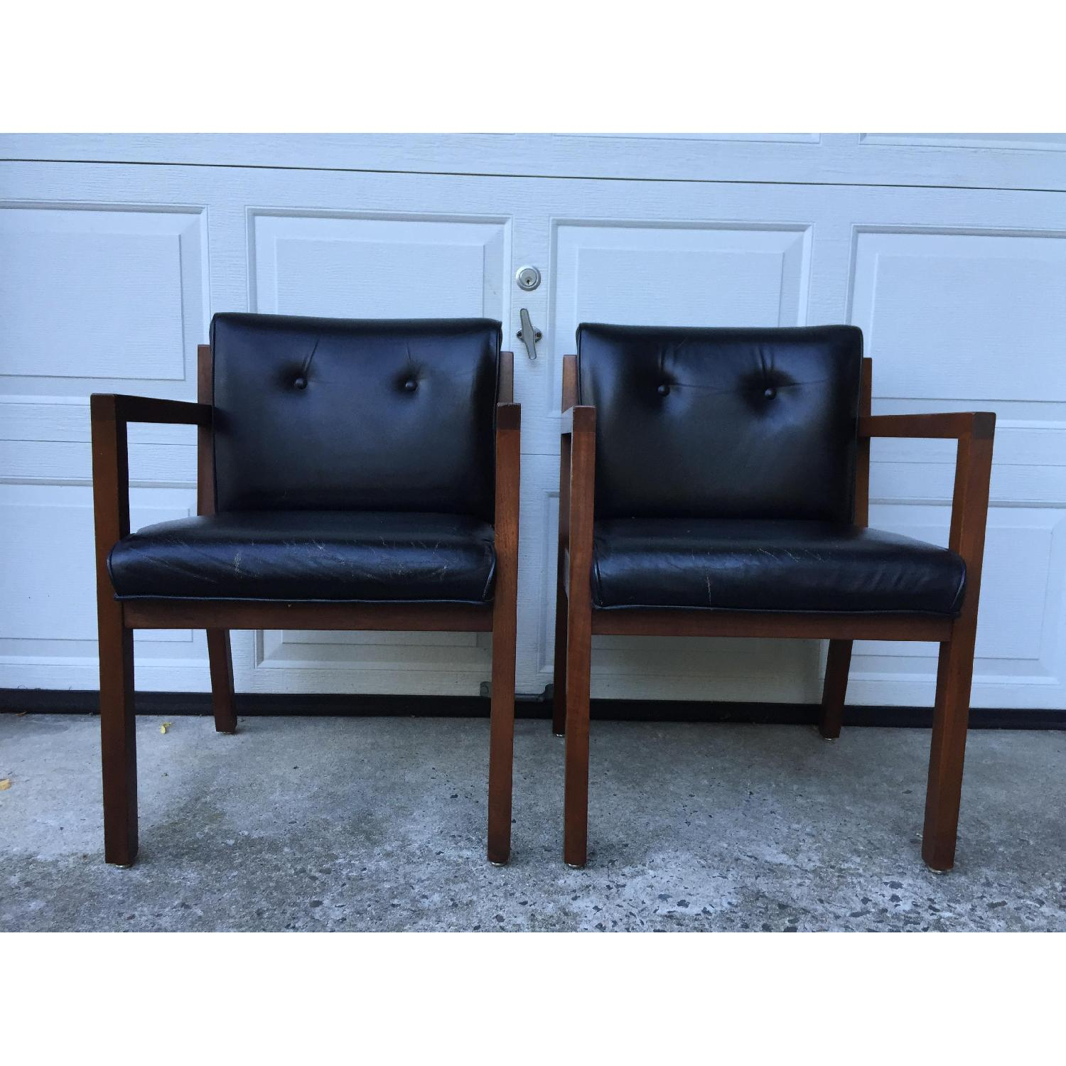 Jasper Chair Company Mid Century Modern Walnut Frame Chairs - Pair - image-8