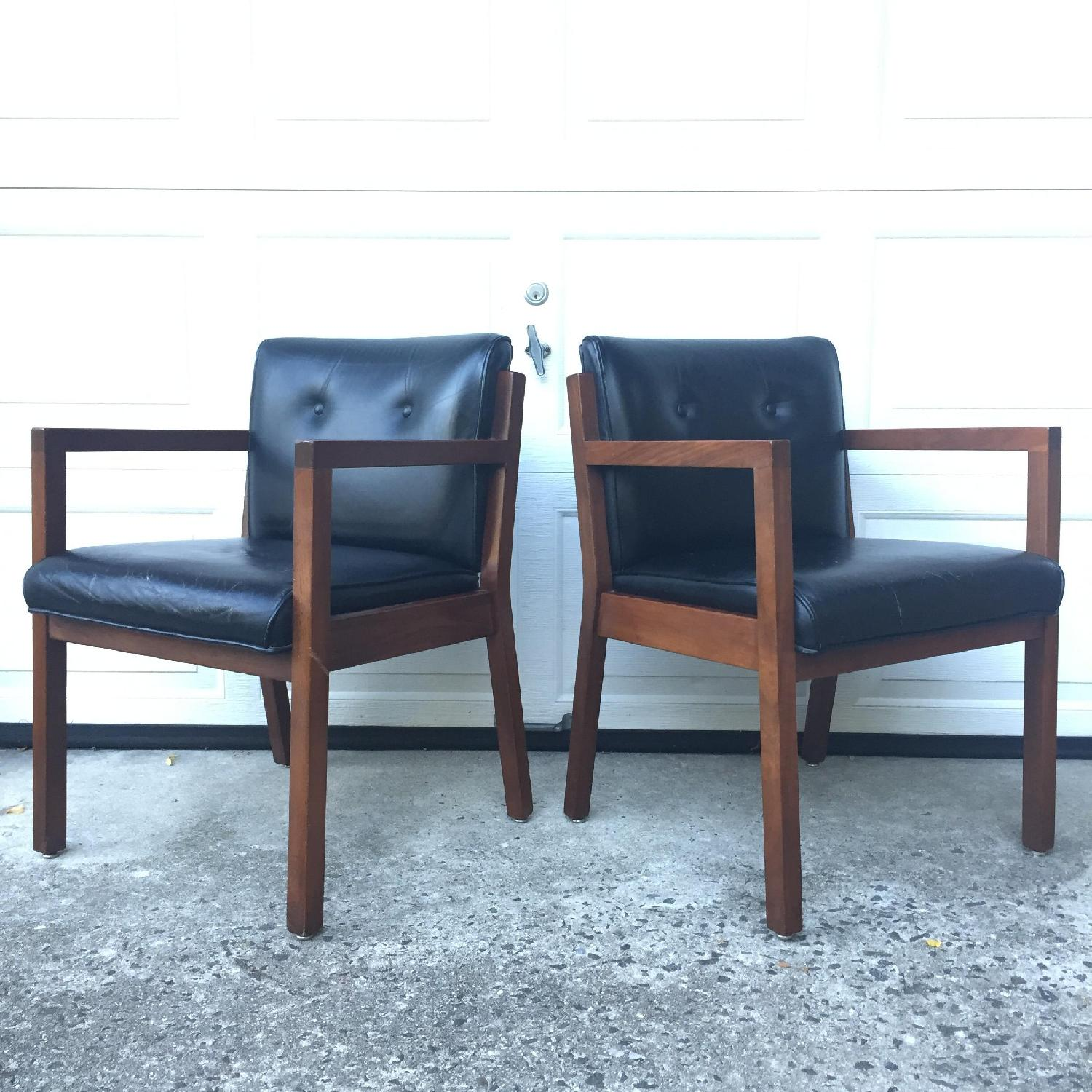 Jasper Chair Company Mid Century Modern Walnut Frame Chairs - Pair - image-10