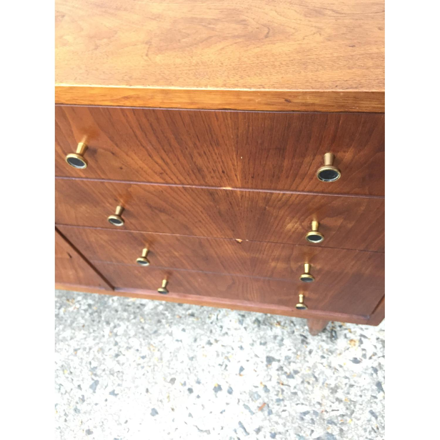 Mid Century Modern Louvered Front Dresser - image-1