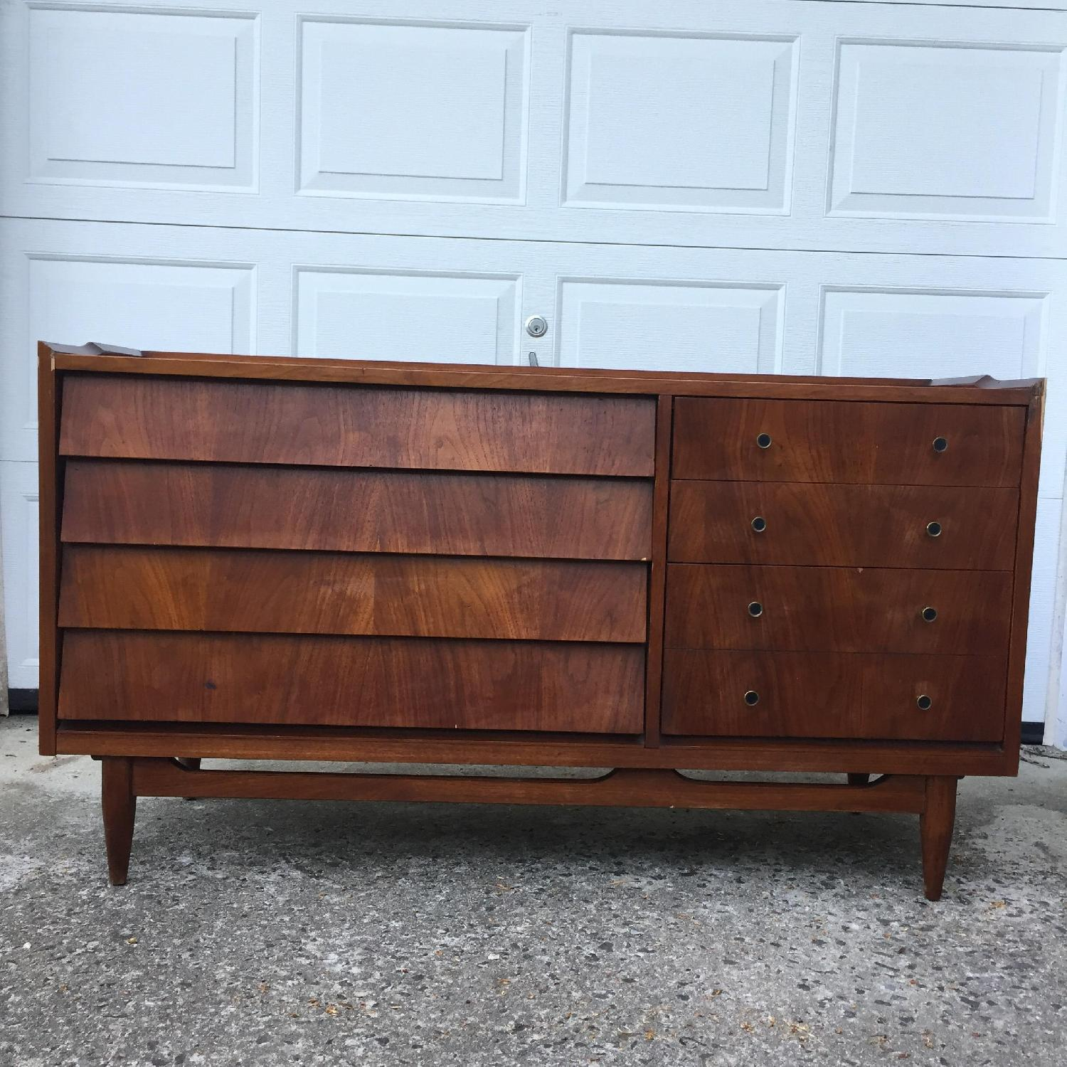 Mid Century Modern Louvered Front Dresser - image-2