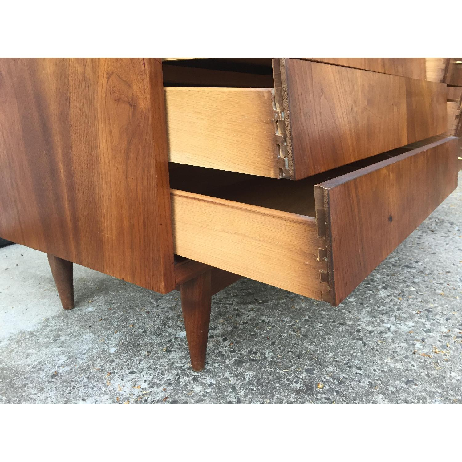 Mid Century Modern Louvered Front Dresser - image-4