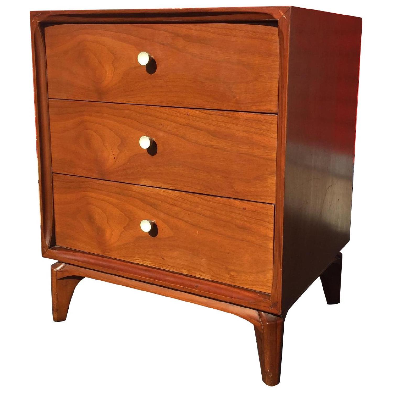 Mid Century Modern Three Drawer Night Table - image-0