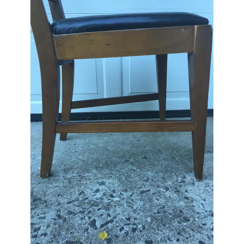 Mid Century Modern Ladder Back Chair with Black Vinyl - image-2