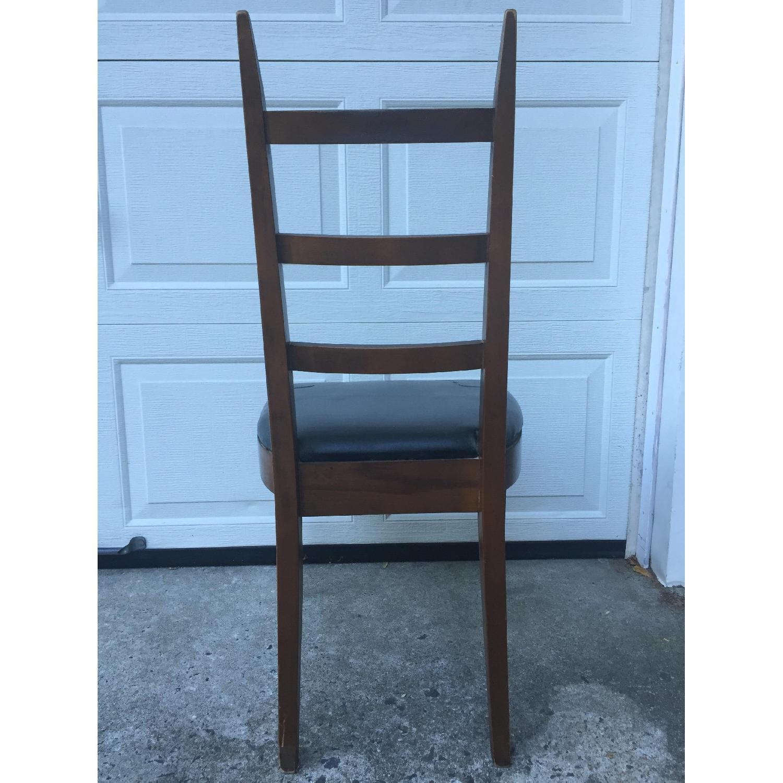 Mid Century Modern Ladder Back Chair with Black Vinyl - image-7