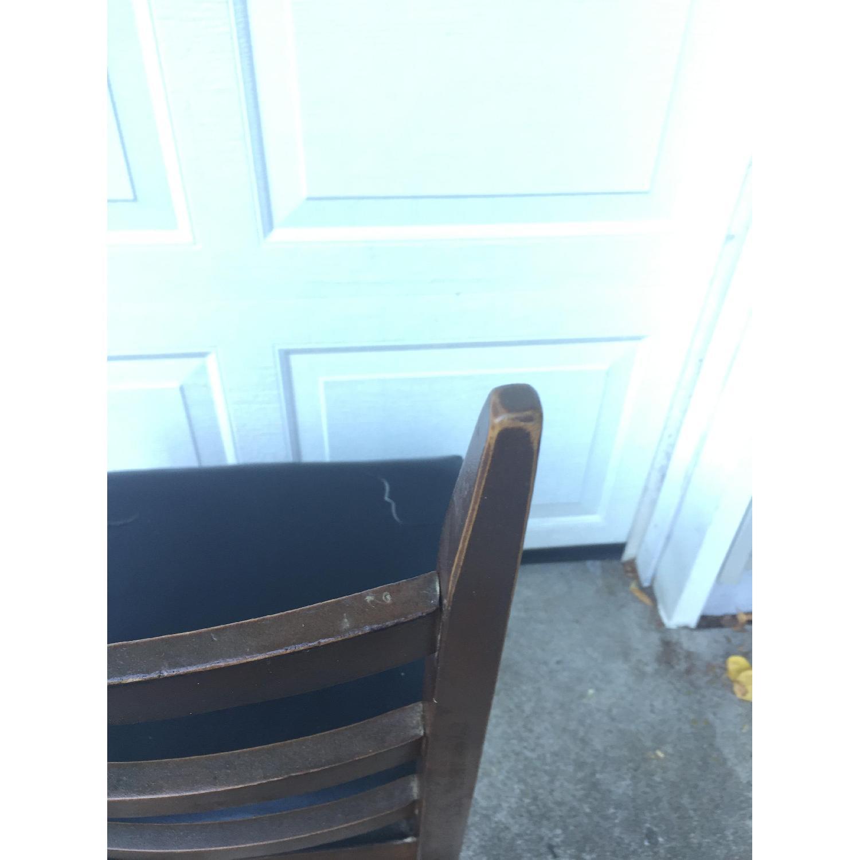 Mid Century Modern Ladder Back Chair with Black Vinyl - image-8