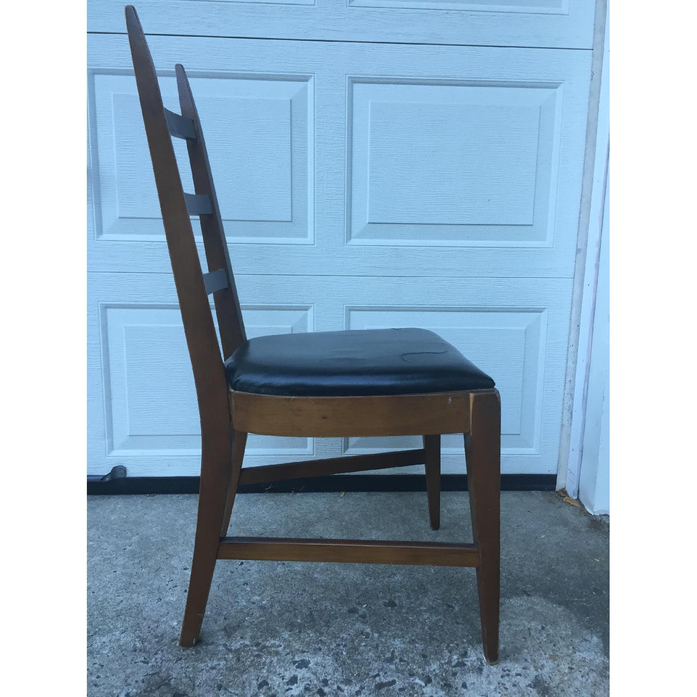 Mid Century Modern Ladder Back Chair with Black Vinyl - image-9