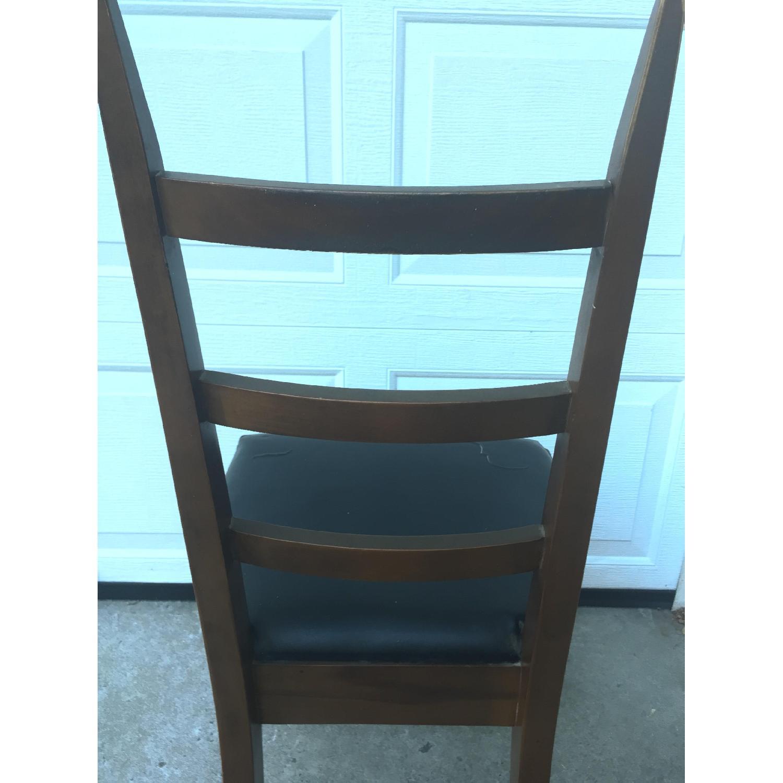 Mid Century Modern Ladder Back Chair with Black Vinyl - image-11