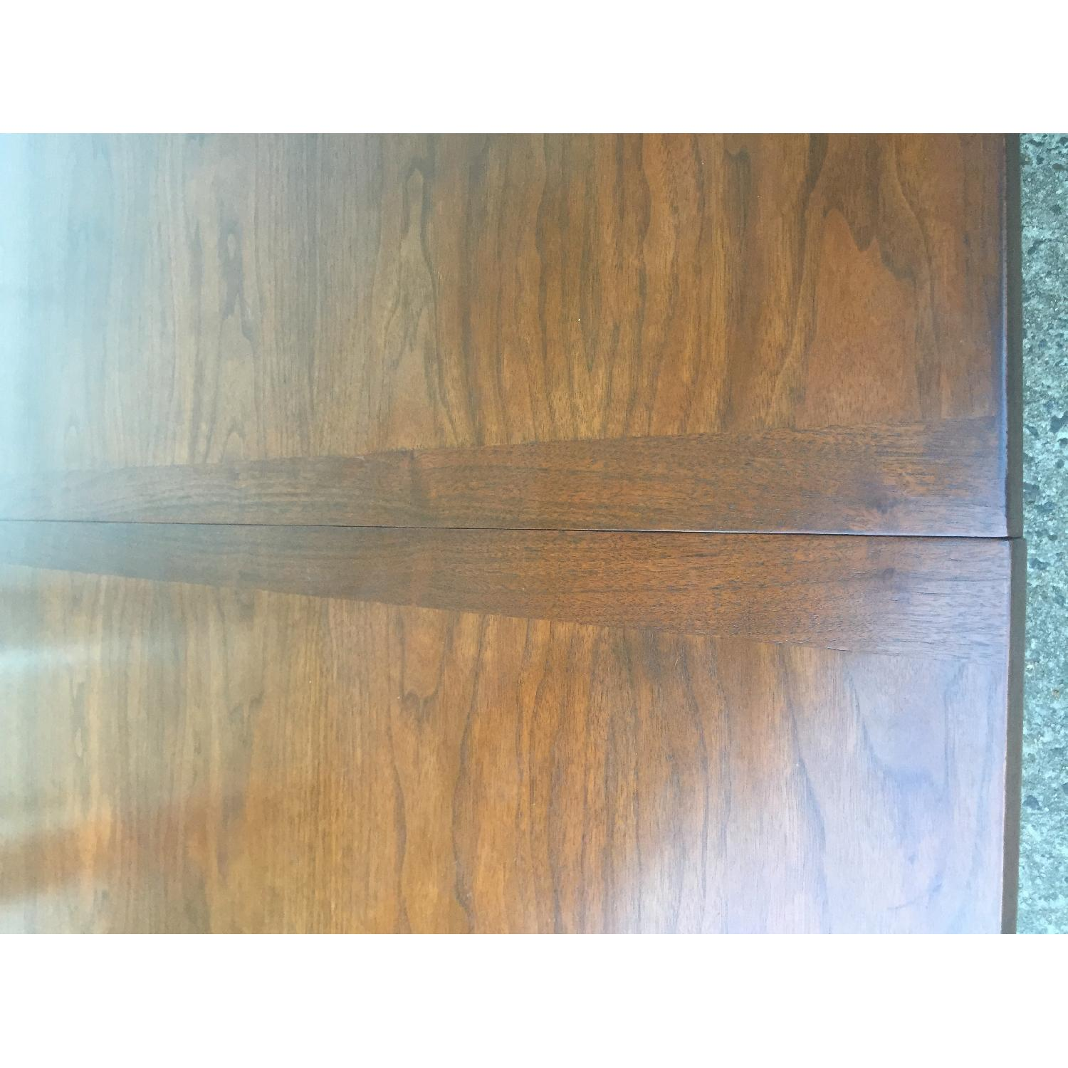 Mid Century Modern Walnut Dining Table with Brass Accents - image-10