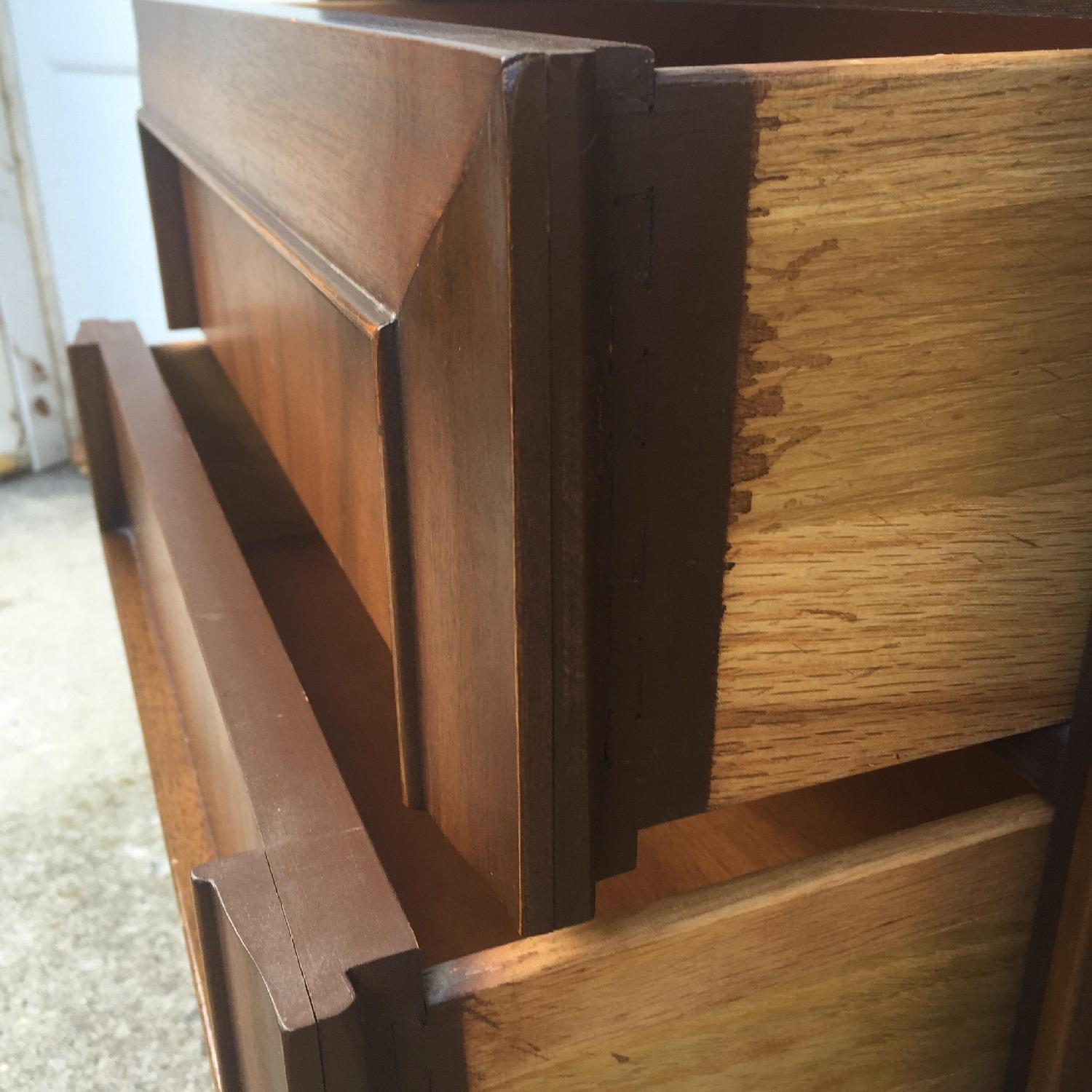 Mid Century Modern Two Drawer Night Stand - image-1