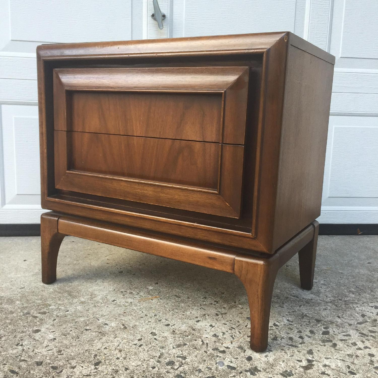 Mid Century Modern Two Drawer Night Stand - image-4