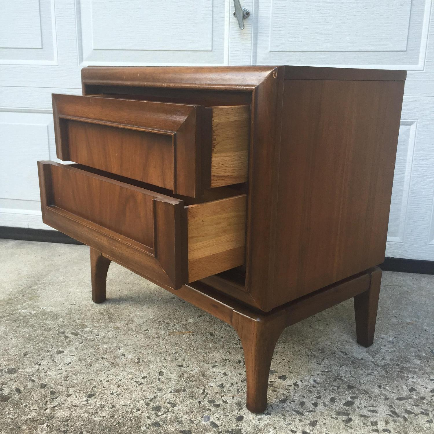 Mid Century Modern Two Drawer Night Stand - image-6