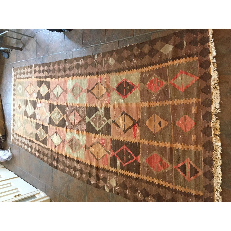 Turkish Antique Kilim Rug - image-7