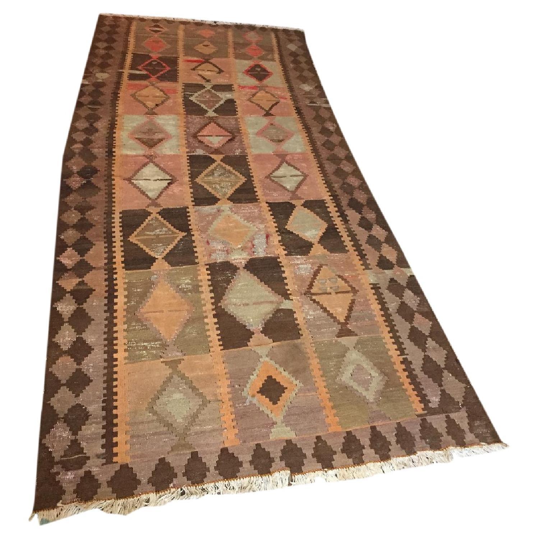 Turkish Antique Kilim Rug - image-0