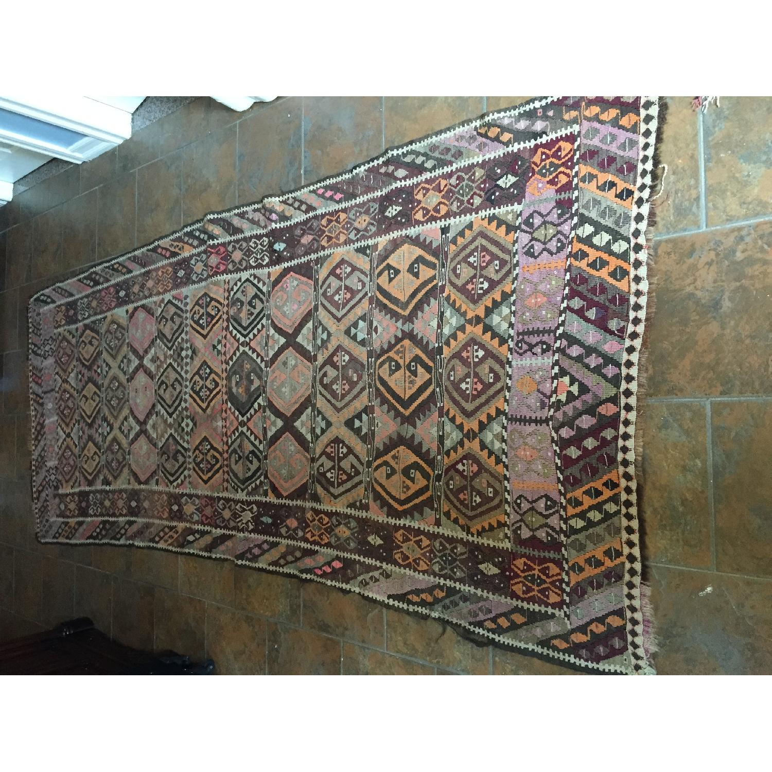 Turkish Antique Kilim Rug Runner - image-1
