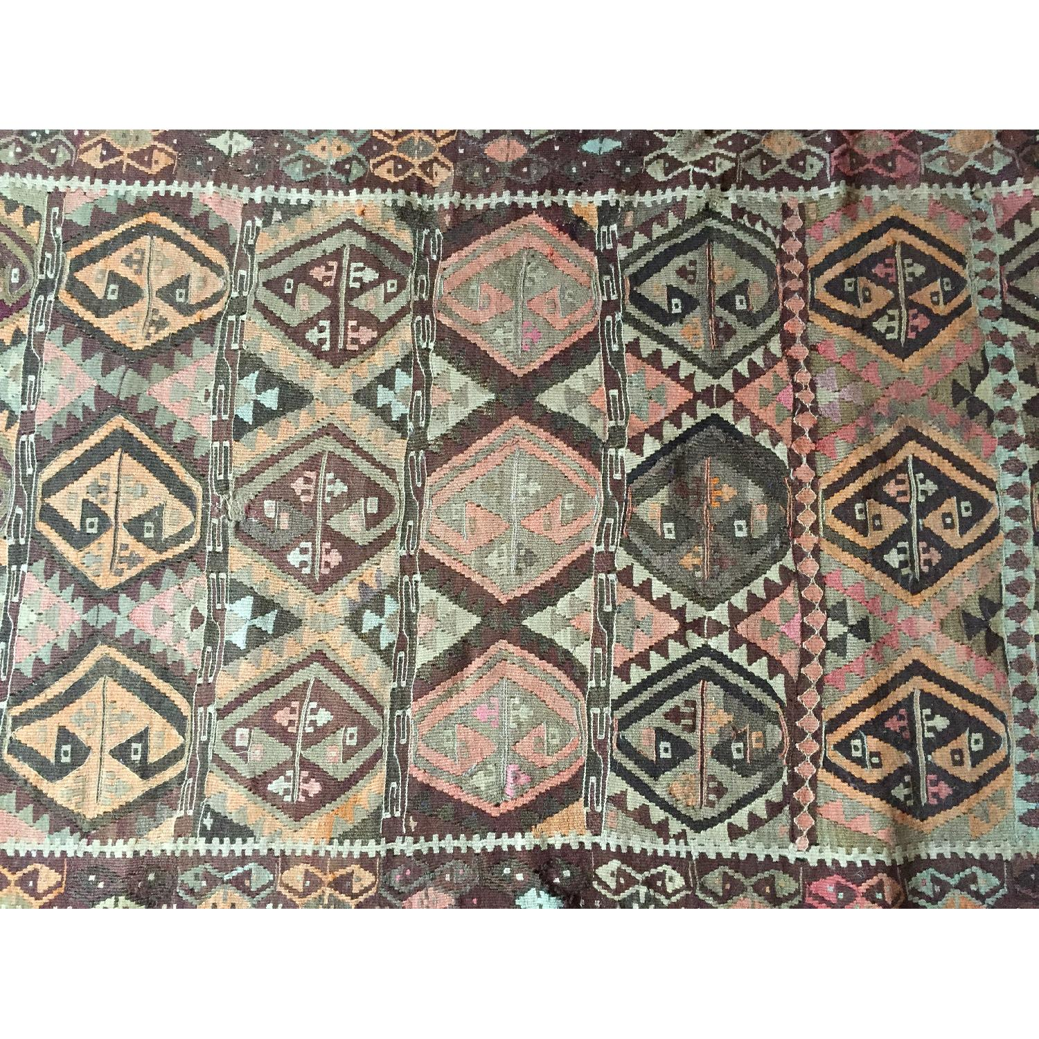 Turkish Antique Kilim Rug Runner - image-5