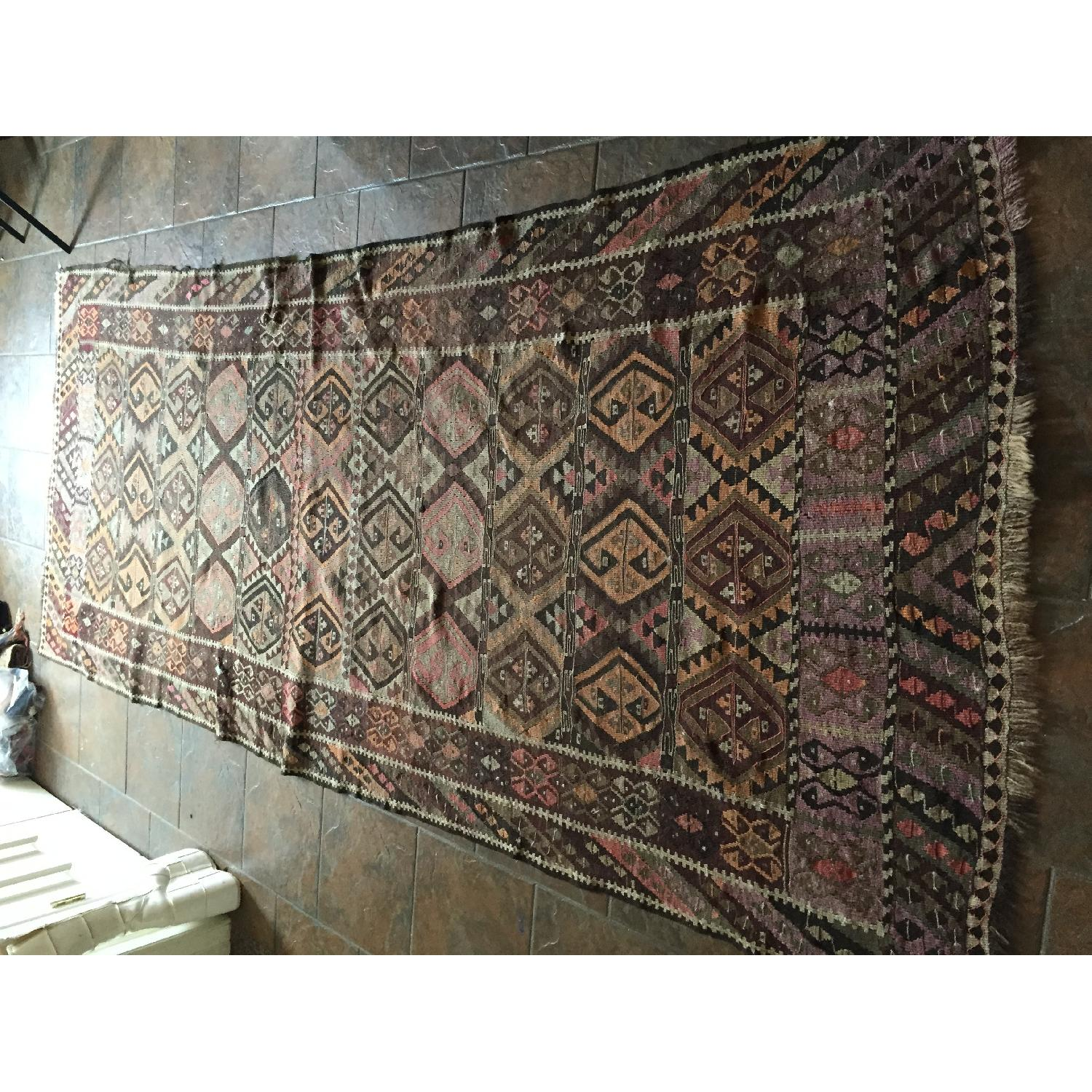 Turkish Antique Kilim Rug Runner - image-7