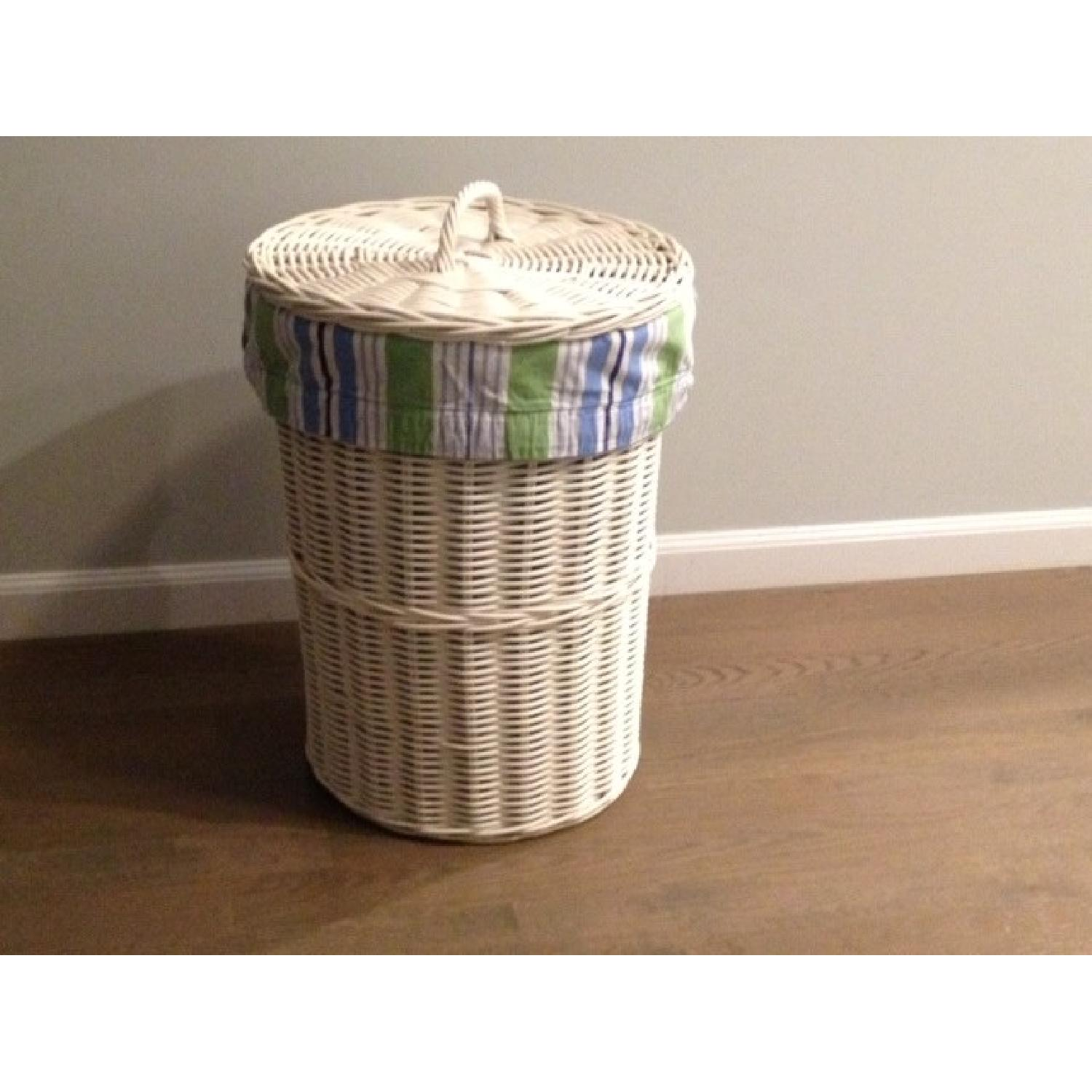 Pottery Barn Sabrina Hamper with Inserts - image-1