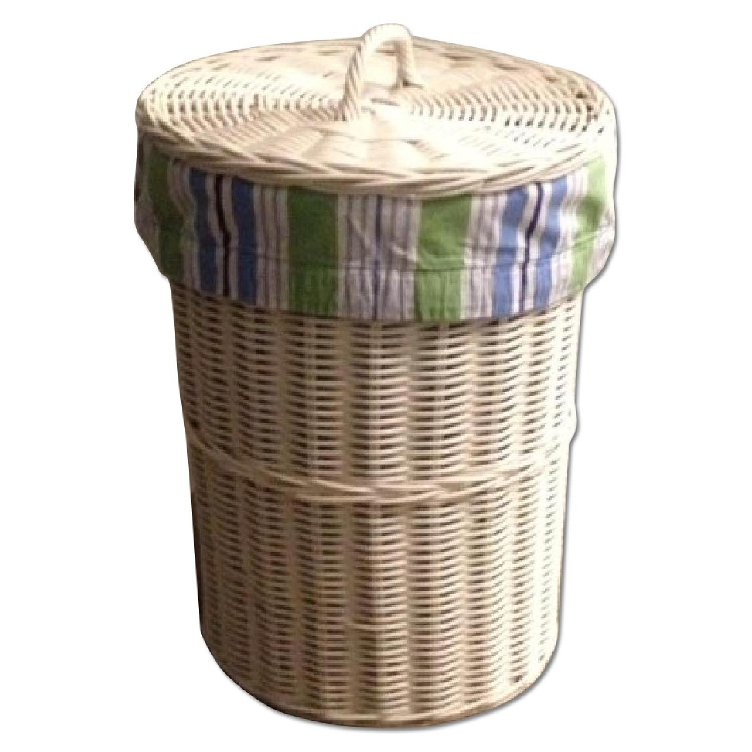 Pottery Barn Sabrina Hamper with Inserts - image-0