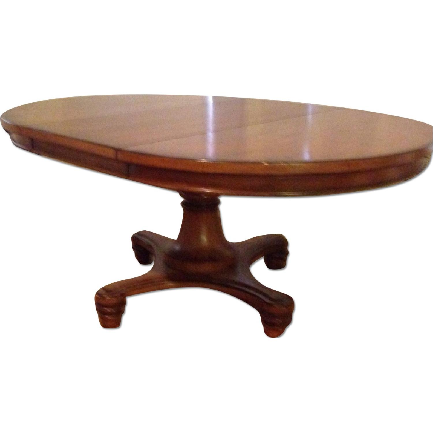 Pottery Barn Dining Room Table w/ Leaf - image-0