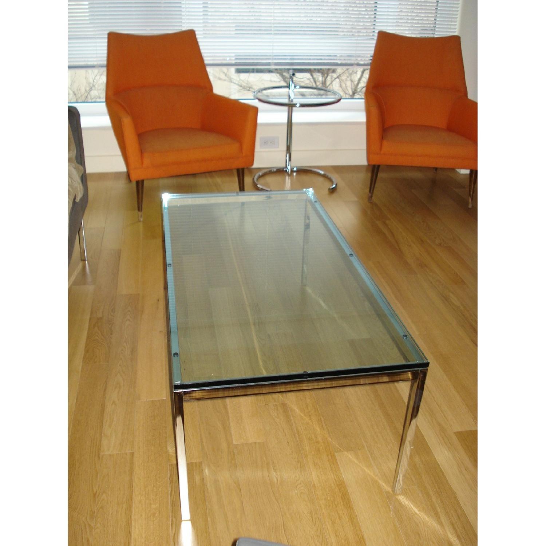 Florence Knoll Glass Top Rectangular Coffee Table - image-2