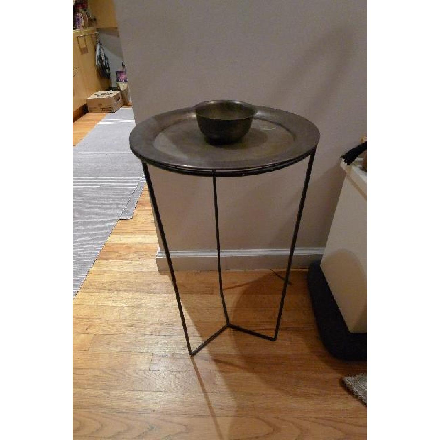 Antique Silver Plated Side Table - image-1