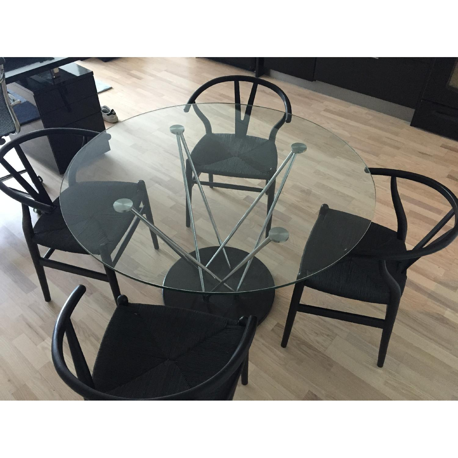Structube Glass & Marble Dining Table - image-2