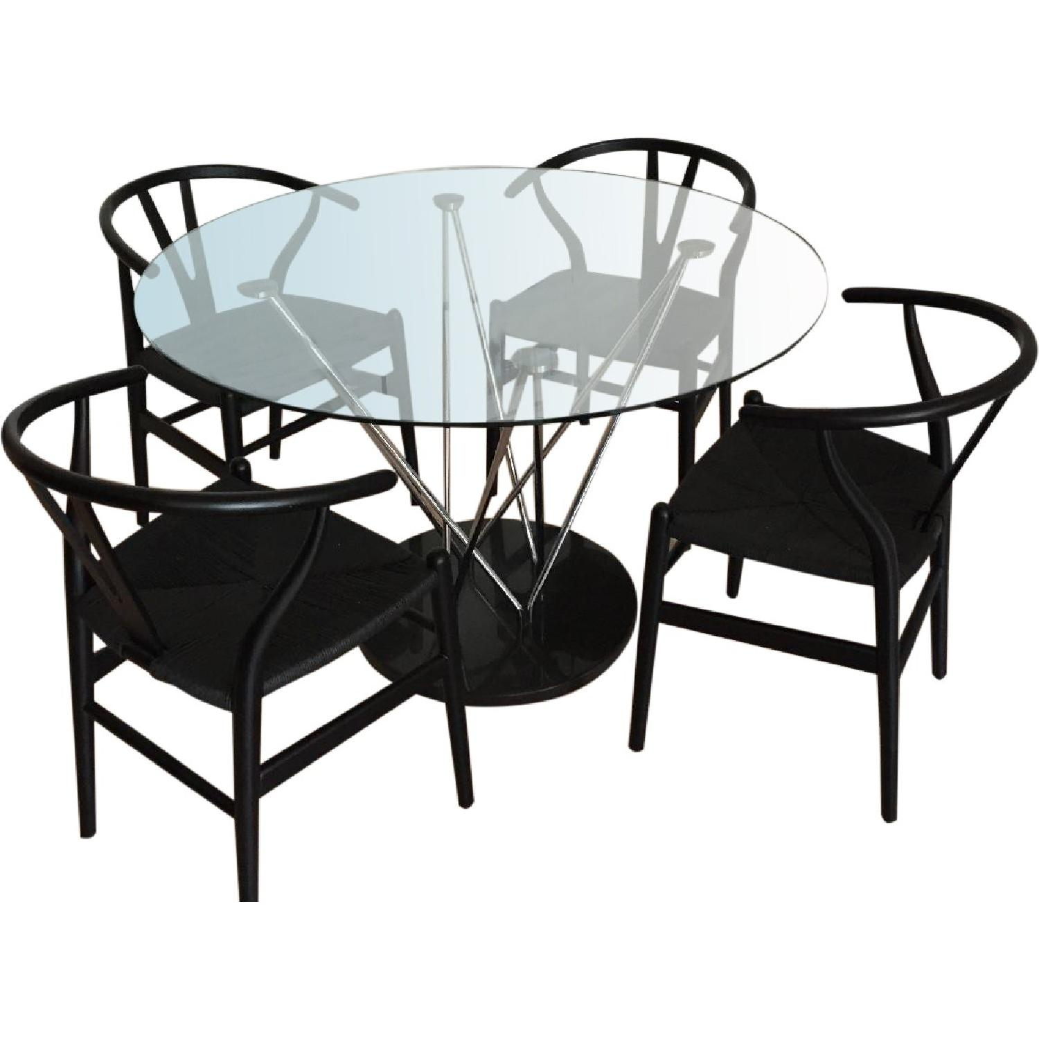 Structube Glass & Marble Dining Table - image-0