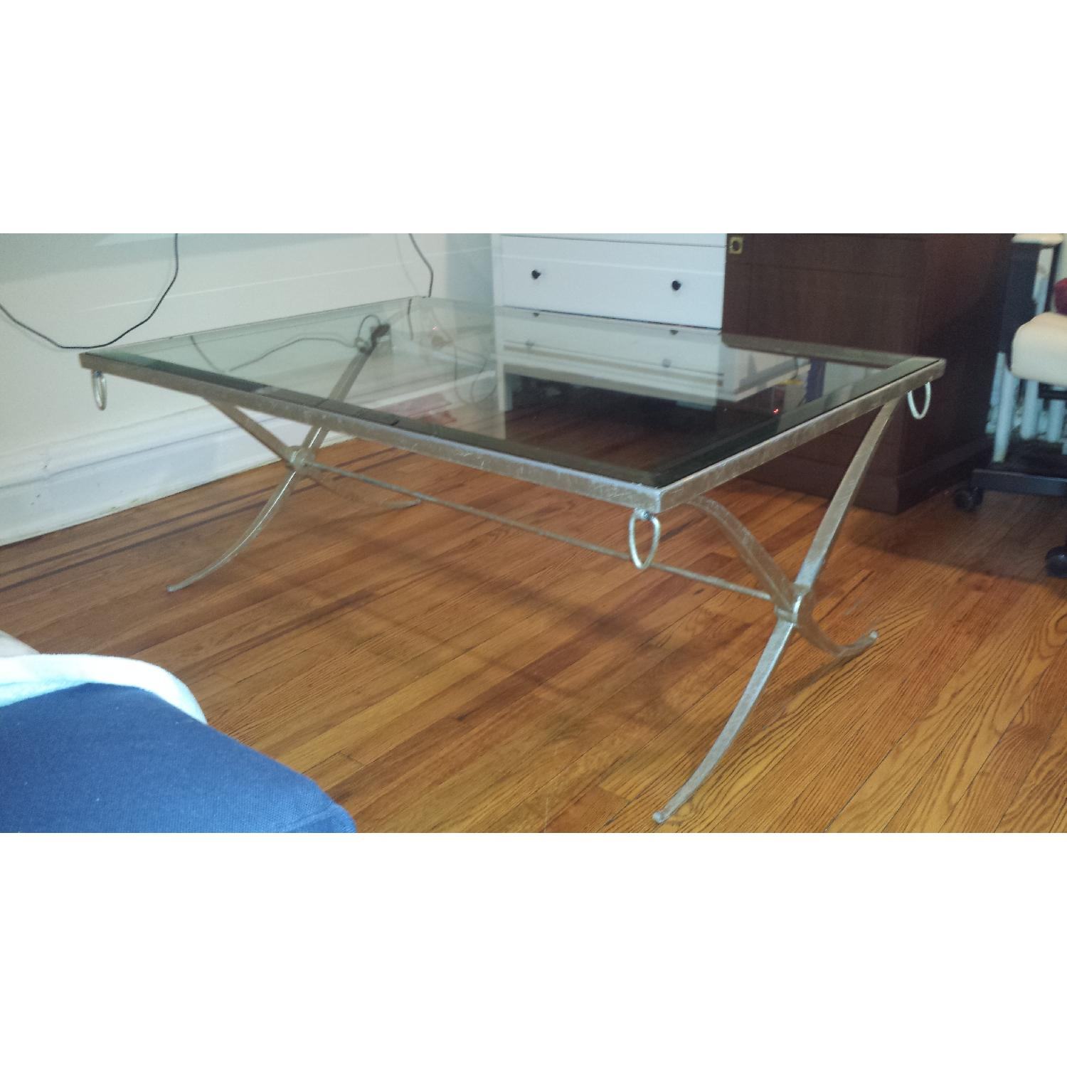 Baker Barbara Barry Collection Glass & Iron Coffee Table - image-1