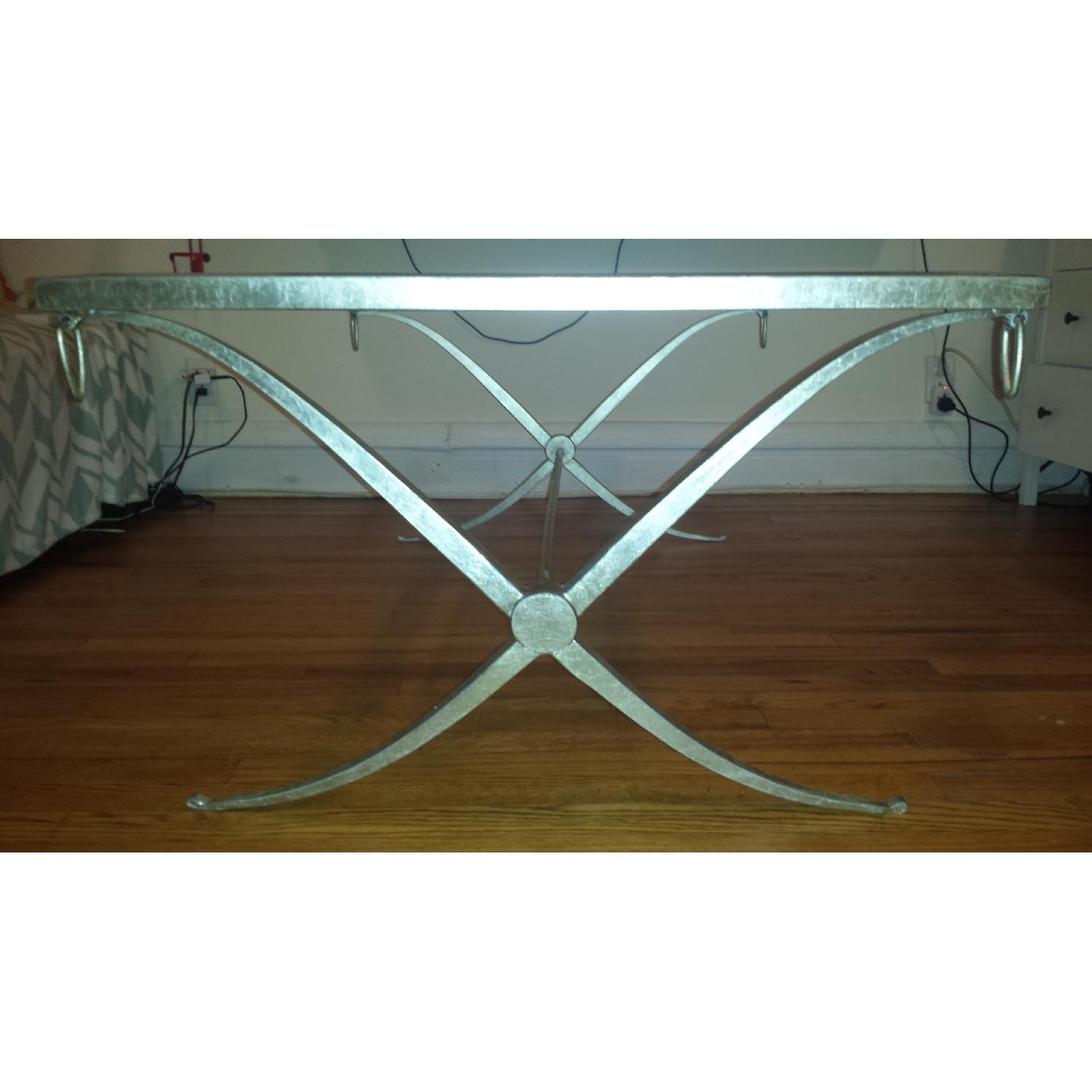 Baker Barbara Barry Collection Glass & Iron Coffee Table - image-2