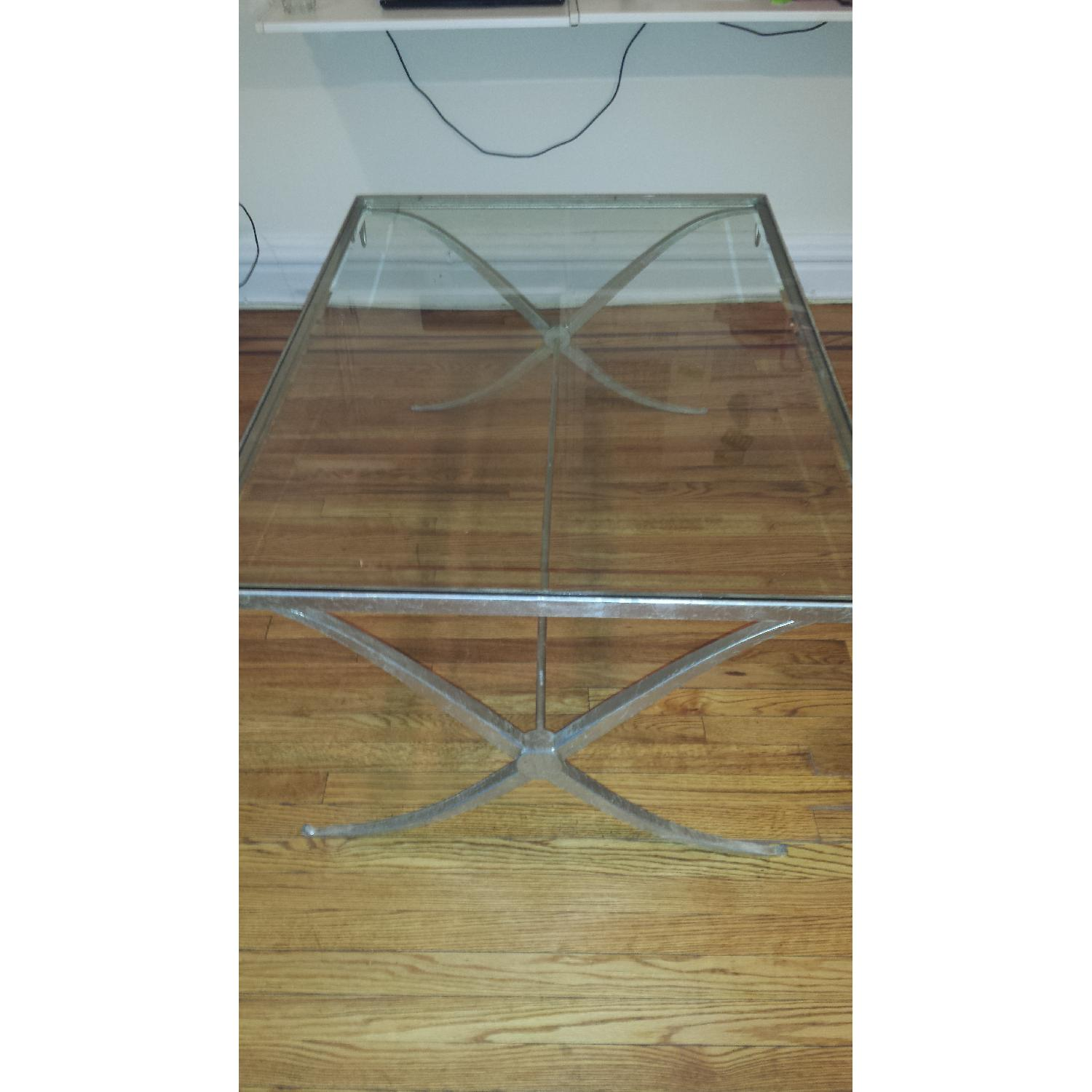 Baker Barbara Barry Collection Glass & Iron Coffee Table - image-3