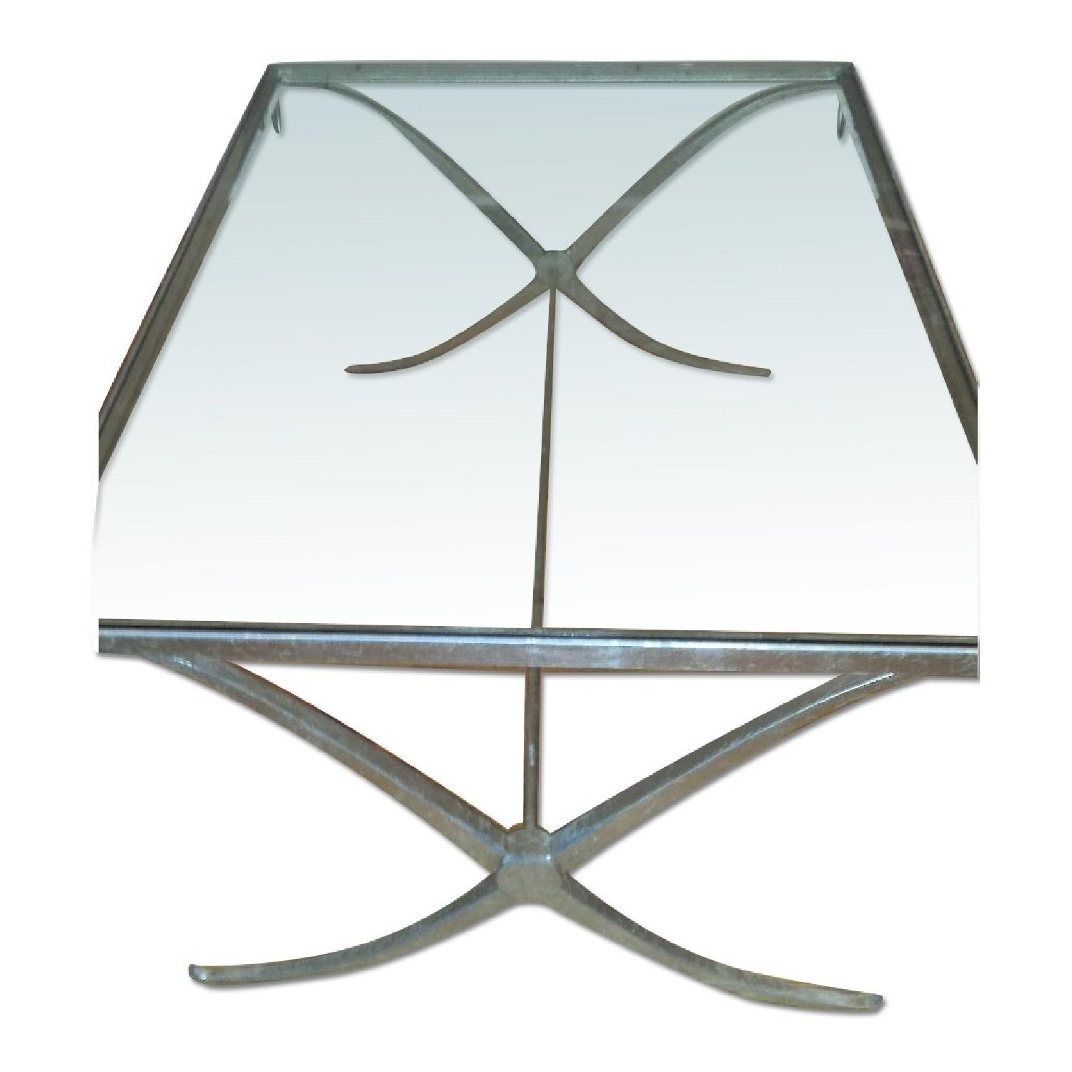 Baker Barbara Barry Collection Glass & Iron Coffee Table - image-0