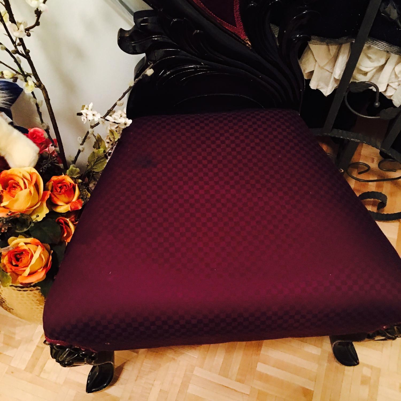 Purple & Black High Back Baroque Chair - image-6