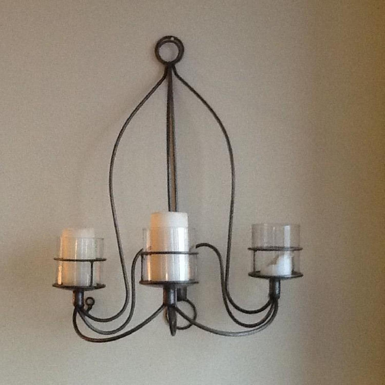 Metal & Glass Hanging Candle Holder - image-3
