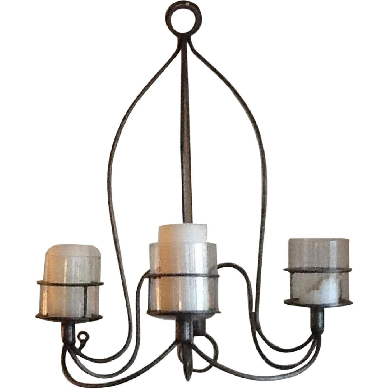 Metal & Glass Hanging Candle Holder - image-0