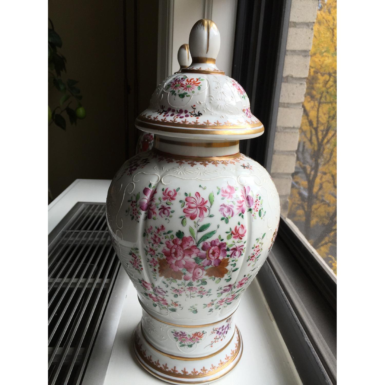 Samson Porcelain Vases - Pair - image-1