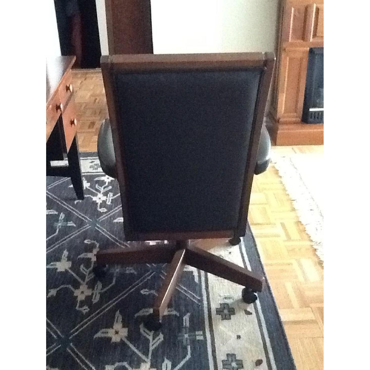 Ethan Allen Wood & Leather Desk Chair - image-3