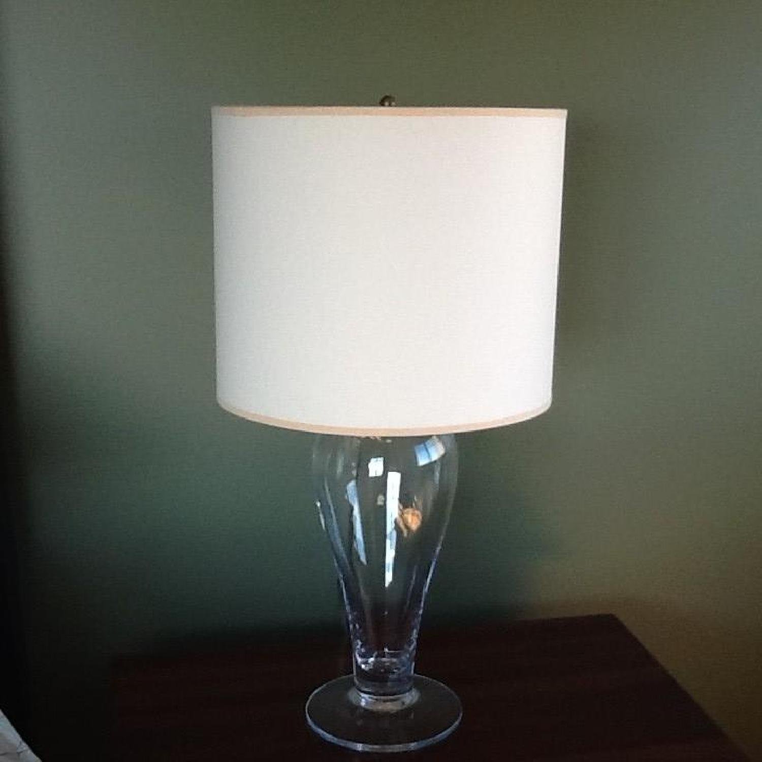 Clear Glass Table Lamps - Pair - image-1