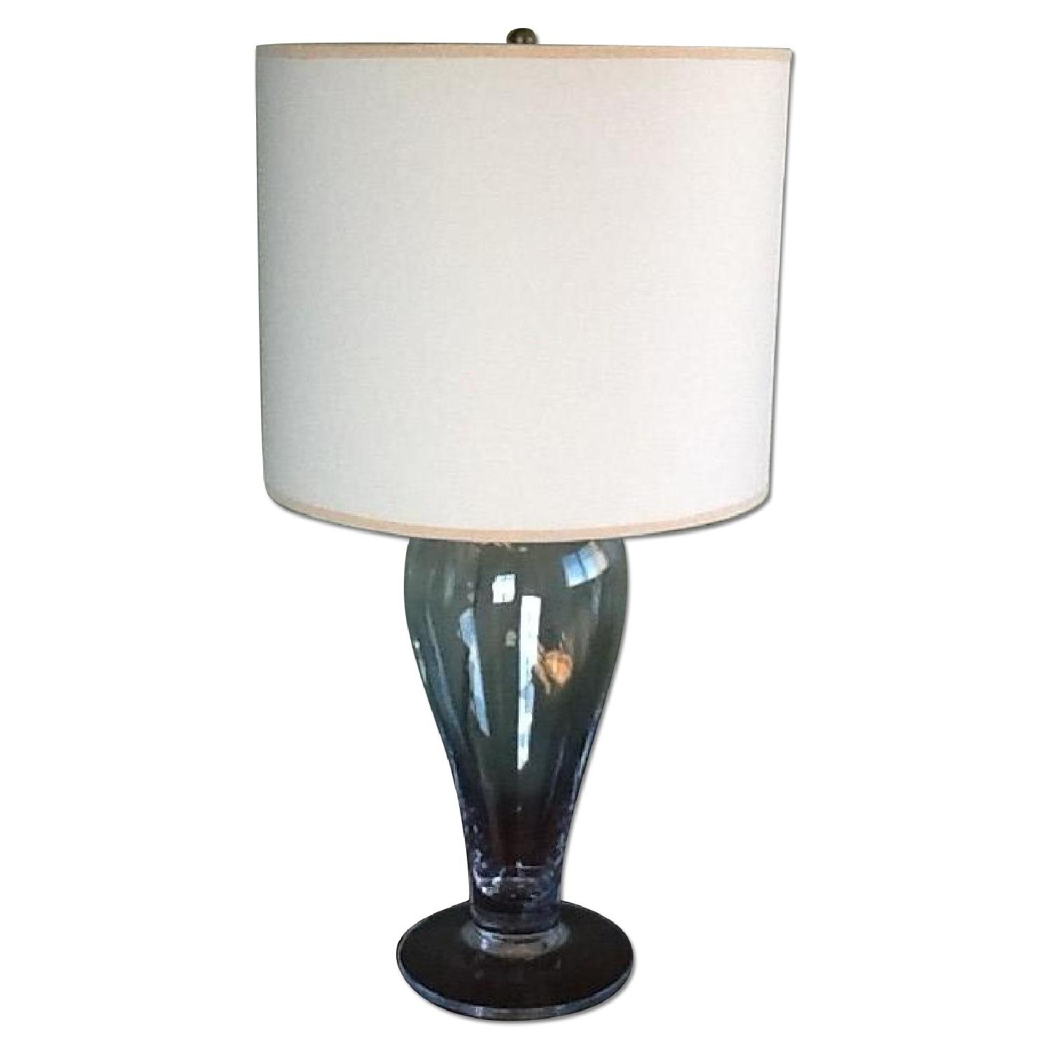 Clear Glass Table Lamps - Pair - image-0