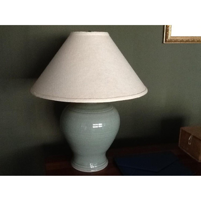 Green Ceramic Table Lamp - image-1
